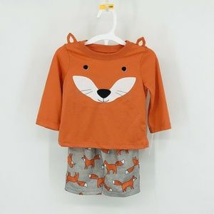Red Fox Pajamas Long Sleeve Set Boys 12 Months